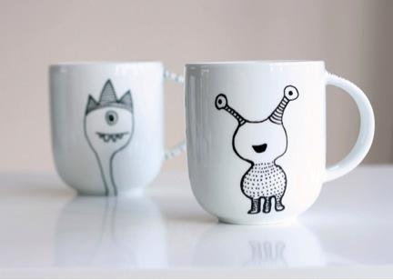 porcelain painted mug