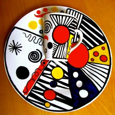 porcelain pen plate