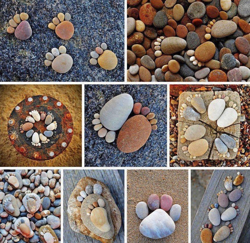 stone & pebble feet