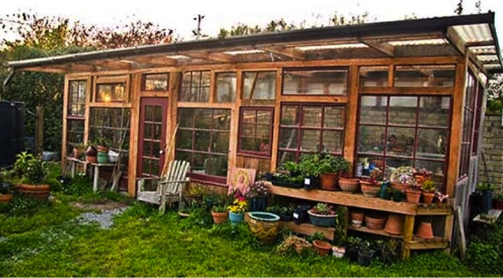 Build A Greenhouse From Old Windows DoItYourself Fun Ideas - Backyard greenhouse ideas
