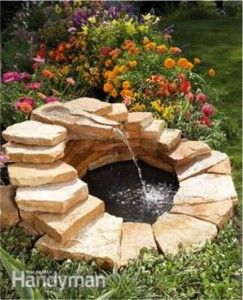 DIY BACKYARD fountain POND