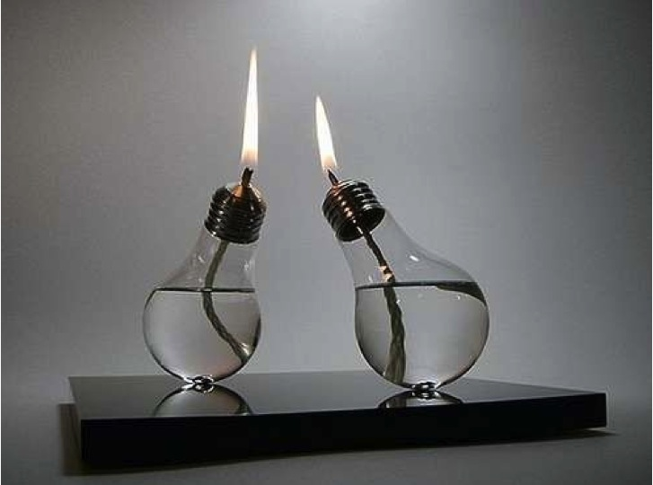Diy light bulb oil lamp do it yourself fun ideas diy lightbulb oil lamp solutioingenieria Images