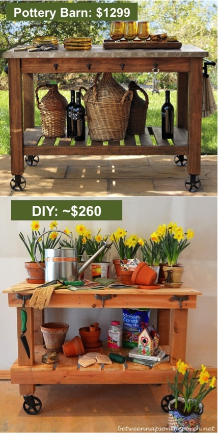 Build Your Own Diy Pottery Barn Inspired Potting Table And