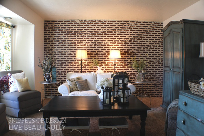 DIY Super Easy Faux Brick Wall