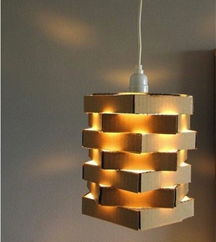 lamp of idea made creative ideas cardboard suspension corrugated desingrulz design diy