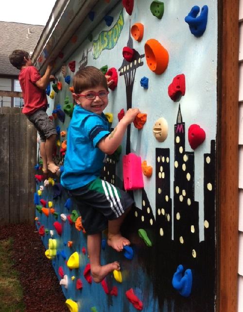 DIY Outdoor Rock Climbing Wall Do It Yourself Fun Ideas