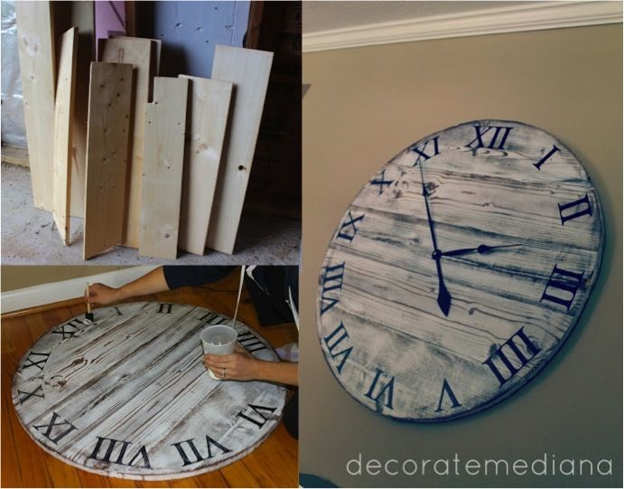 DIY Giant Pottery Barn Wall Clock for 10 DoItYourself Fun Ideas