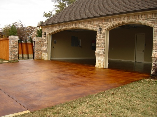 Diy stained concrete how to revitalize any concrete for How to clean outdoor stained concrete