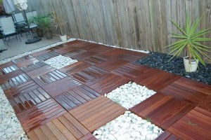 How To install wood deck tile