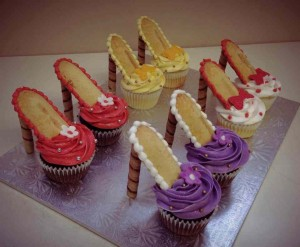 diy high heel cupcakes