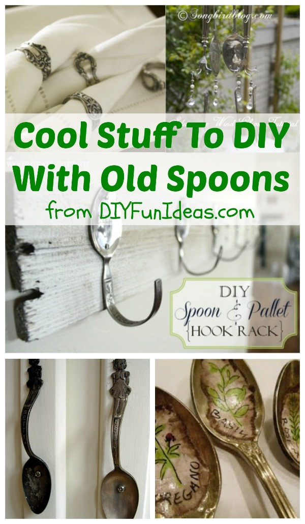 Cool stuff to diy with old spoons and a few forks too do it diy old spoons solutioingenieria Images