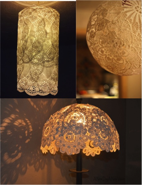 Diy easy lace doily lamp shades three styles three tutorials do if this is your first visit please like us on facebook and share this page with your fb friends so you dont miss out on daily diy ideas inspirations aloadofball