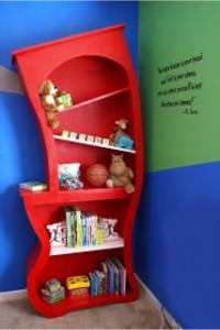 DIY Dr seuss bookshelf