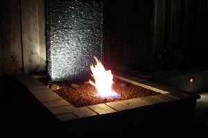 diy backyard fire fountain