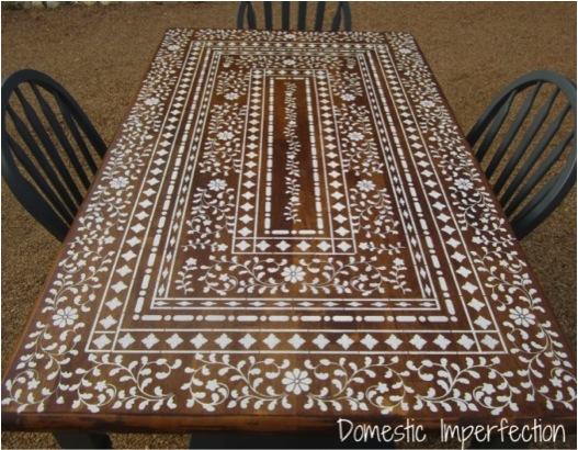How To Use Lace To Stencil Furniture Do It Yourself Fun