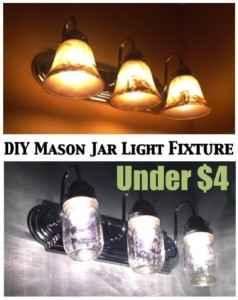 country chic mason jar light fixture