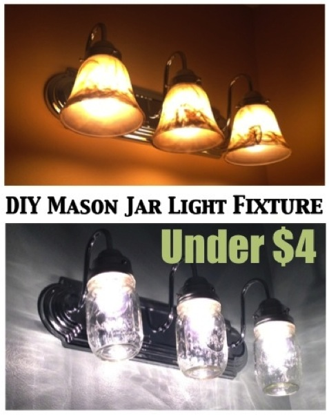 Diy country chic mason jar light fixture do it yourself fun ideas - Do it yourself light fixtures ...