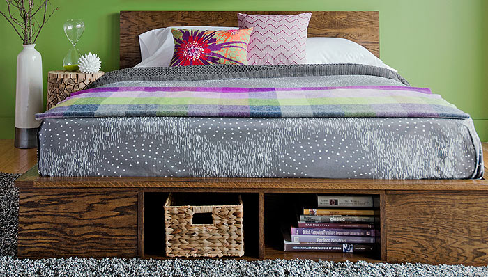 DIY Platform Bed Tutorials - 4 Beautiful Designs - Do-It-Yourself Fun ...