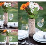 rock mosaic vase from pringles canister