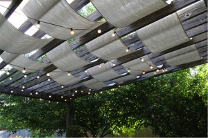 how to shade your pergola