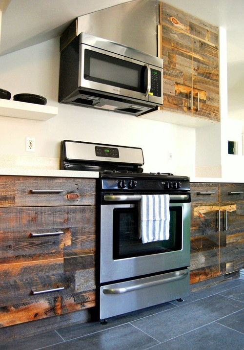Diy Kitchen Cabinets Hgtv Pictures Do It Yourself Ideas: Amazing DIY StikWood Finished Kitchen Cabinets, Headboard
