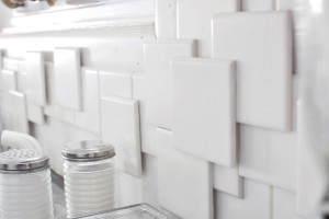 DIY 3D tile backsplash