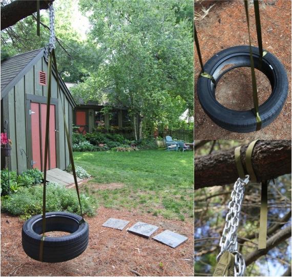 Diy tire swing do it yourself fun ideas for Do it yourself swing