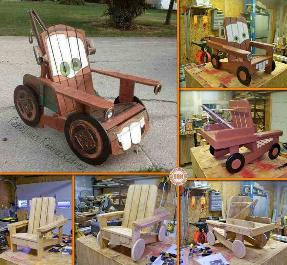 Diy Quot Tow Mater Quot Adirondack Chair Do It Yourself Fun Ideas