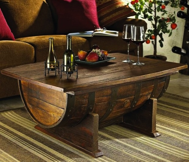 Diy Wine Barrel Coffee Table Do It Yourself Fun Ideas