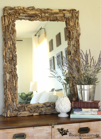 beautiful diy driftwood mirror do it yourself fun ideas. Black Bedroom Furniture Sets. Home Design Ideas