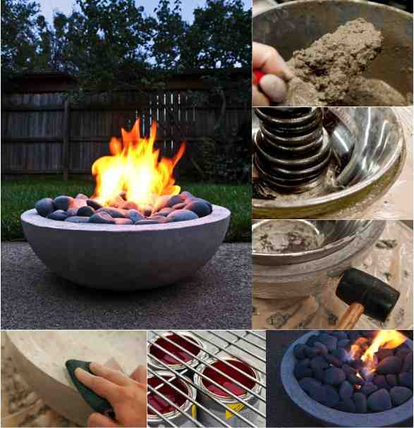 Diy Concrete Fire Pit Do It Yourself Fun Ideas