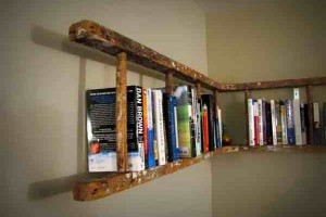 DIY Ladder Bookshelf