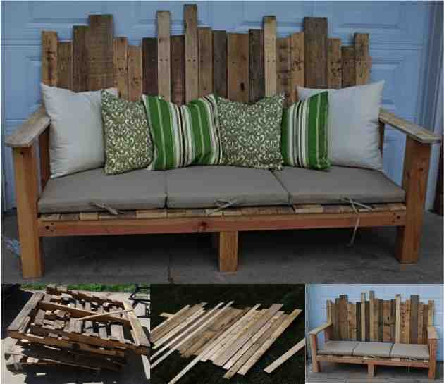 fantastic diy outdoor pallet sofa do it yourself fun ideas. Black Bedroom Furniture Sets. Home Design Ideas