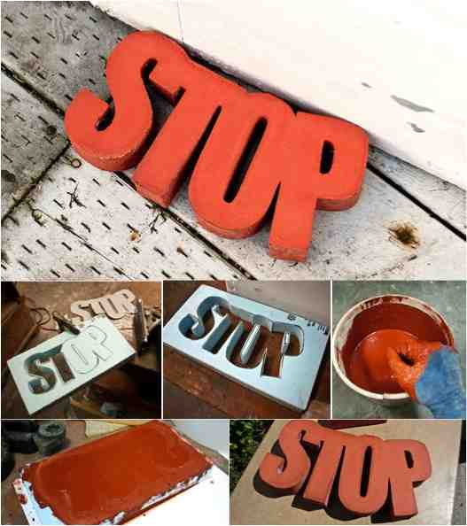 Easy super fun diy concrete door stop do it yourself for Door stop idea