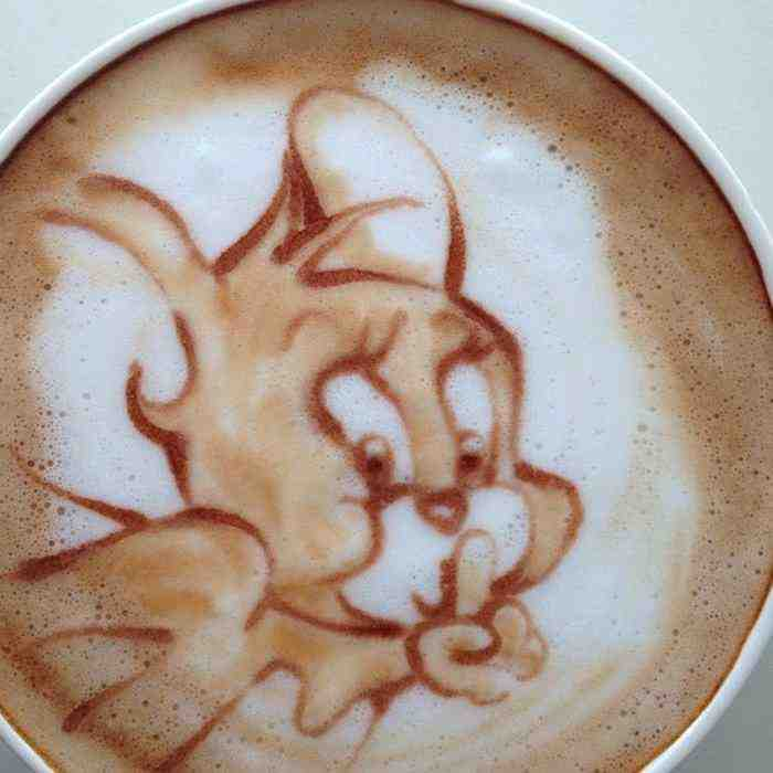 coffee foam art