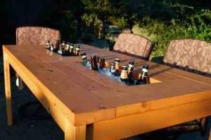 DIY beer cooler table 1