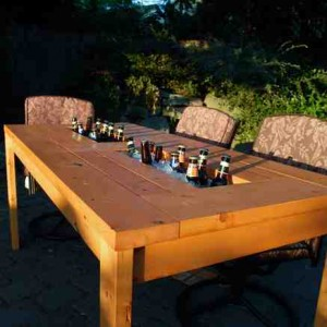 DIY beer cooler table 1