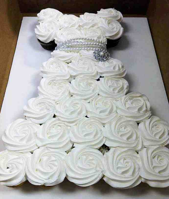 Diy Cupcake Wedding Dress Cake Do It Yourself Fun Ideas