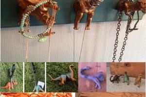 DIY dinosaur hooks