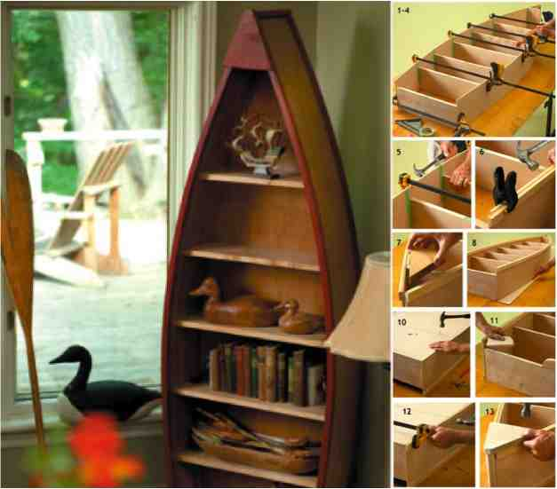 How to make a boat book shelf do it yourself fun ideas how to build a boat shelf solutioingenieria Image collections
