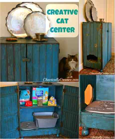 diy cat litter hideway center