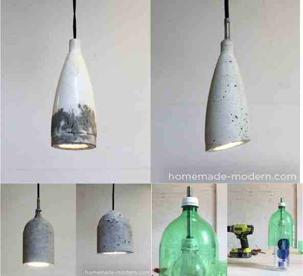 Sleek diy concrete pendant lamp for 10 do it yourself fun ideas diy concrete pendant lamp mozeypictures Image collections