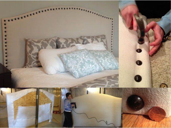 Diy drop cloth upholstered headboard save 1500 do it yourself diy drop cloth head board solutioingenieria Images