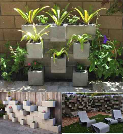 DIY Cinder Block Planters - Do-It-Yourself Fun Ideas