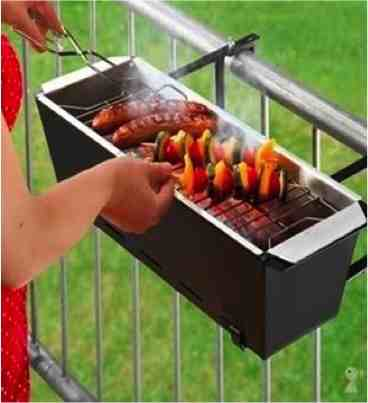 Diy Handrail Barbecue For Tiny Patios Do It Yourself Fun