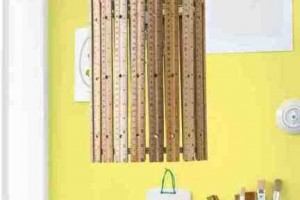 diy hanging ruler lamp