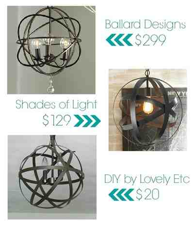 diy orb light fixtures