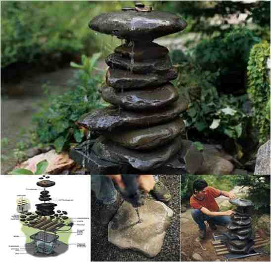 Beautiful diy zen water fountain do it yourself fun ideas for Backyard water fountain ideas