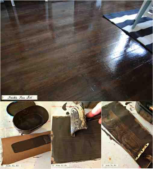 Brown paper faux wood floors for less than 90 do it yourself fun diy paper bag faux wood floors solutioingenieria Image collections