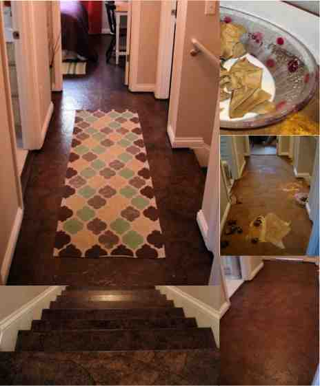 paper concrete floors brown paper faux wood floors for less than 90 do it yourself